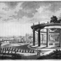 Александрова дача. Гравюра с изображением храма Цереры