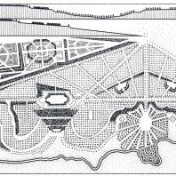 Проект сада при Киевском дворце садового мастера Д. Фока (1748 г.)