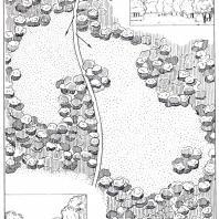 Качановский парк. Прием формирования поляны с учетом последовательности осмотра различных по глубине пейзажей