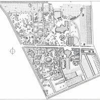 План новой части ботанического сада Одесского государственного университета им. И.И. Мечникова
