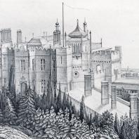 Вид Воронцовского дворца (со старинной почтовой открытки)