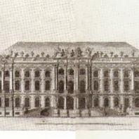 Царское Село. Фасад Большого дворца. Чертеж В. Растрелли. Народная библиотека в Варшаве