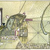 План Царского Села. 1770-е гг. Государственная публичная библиотека им. М.Е. Салтыкова-Щедрина