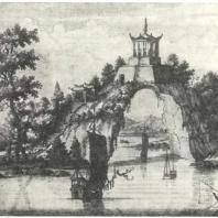 Китайская пагода в провинции Фукиен. Гравюра XVII в.