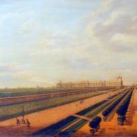 Вид Большого дворца. Баризьен Ф.Г. 1760-х г.
