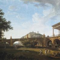 Пандус возле Камероновой галереи в Царскосельском парке. Петров В.П. 1794
