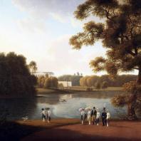 Вид на пруд и Камеронову галерею. Царское село. Мартынов А.Е. 1815 г.